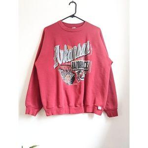 Vintage 90s Arkansas Razorbacks Crew Sweatshirt